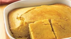 Quickly combine all ingredients in one bowl and pour into a pan. In 20 minutes, you'll be taking a hearty cornbread out of the oven!