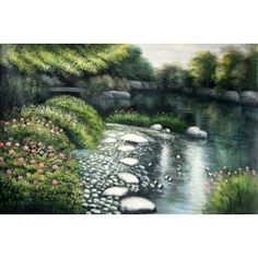 Real Handmade Landscape Oil painting Landscape Art, Landscape Paintings, Oil Paintings, Water, Handmade, Outdoor, Gripe Water, Outdoors, Hand Made