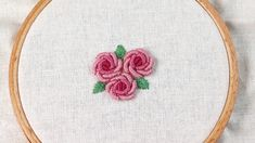 bullion knot rose stitch hand embroidery tutorial 블리온 노트 스티치 장미 프랑스자수 Hand Embroidery, Blog, Blogging