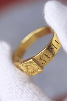 Writers can find inspiration everywhere! A National Trust photograph of an ancient gold ring, believed to have inspired JRR Tolkien to write the Hobbit, which is to have its own exhibition for the first time. The ring, which was found in a farmer's field in 1785, is linked to a Roman curse tablet which echoes the legends created by Tolkien in his fantasy novels. It is now to go on display at the National Trust property The Vyne in Hampshire. Photograph: David Levenson/National Trust/PA