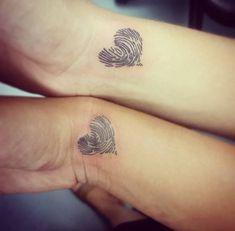 Bester Freund Fingerabdruck Tattoos von Kai – — Tattoos ON Women — – Best Friend Fingerprint Tattoos by Kai – – Tattoos ON Women – – Trendy Tattoos, Unique Tattoos, New Tattoos, Small Tattoos, Tattoos For Women, Wrist Tattoos, Romantic Tattoos, Unique Sister Tattoos, Tattoo Arm
