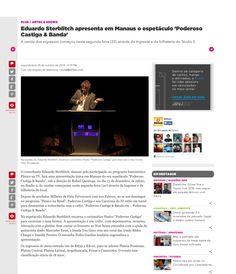 Eduardo Sterblitch apresenta em Manaus o espetáculo 'Poderoso Castiga & Banda'