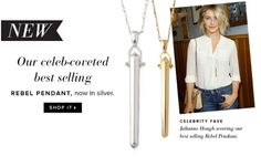 Stella & Dot has just released their best-selling Rebel Pendant in silver. Grab yours: http://www.stelladot.com/cecille
