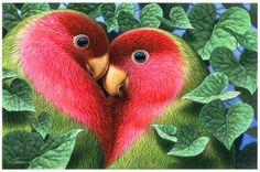 Les perroquets amoureux