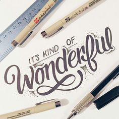 Life... It's kind of wonderful. Great type by @joshuaphillips_ #lettering #Designspiration #typography