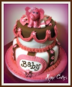 Baby elephant girl By mimi4bye on CakeCentral.com