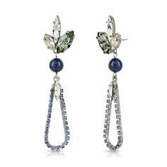 Gunmetal Swarovski Loop Drop Earrings by Heiter at EC One Diamond Life, True Love, Swarovski, Jewelry Design, Sparkle, Glamour, Drop Earrings, Fashion, Real Love