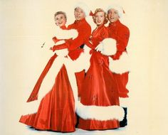 """Vera-Ellen, Danny Kaye, Rosemary Clooney and Bing Crosby publicity still for """"White Christmas"""", 1954"""