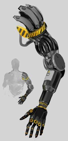 Prosthesis by TD-Vice on DeviantArt Robot Concept Art, Armor Concept, Weapon Concept Art, Mechanical Arm, Mechanical Design, Cyberpunk Character, Cyberpunk 2077, Robotic Prosthetics, Robot Hand