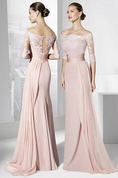 Vestidos largos color rosa