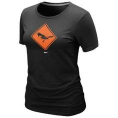 Nike MLB Local T-Shirt - Women's - Baseball - Fan Gear - Orioles - Black