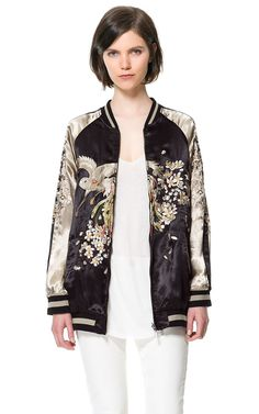 EMBROIDERED BOMBER JACKET from Zara