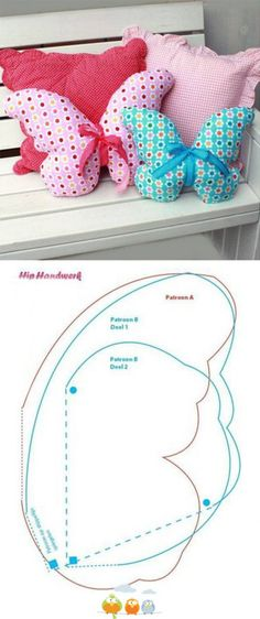 Crochet Patrones Almohadones New Ideas Sewing Toys, Baby Sewing, Sewing Crafts, Sewing Projects, Sewing Hacks, Sewing Tutorials, Sewing Patterns, Sewing Pillows, Diy Pillows
