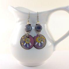 Sunshine Lollipops Enameled Copper Earrings by CinLynnBoutique