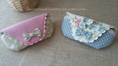 La cestina de los hilos: Funda para gafas (tutorial) Purse Patterns, Sewing Patterns Free, Free Sewing, Sewing Tutorials, Sewing Art, Sewing Crafts, Sewing Projects, Fabric Purses, Fabric Bags