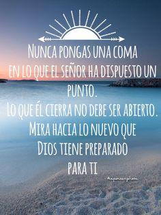 #dios #diosfrases #esperaenjehova Calm, Faith, God, Beach, Quotes, Life, Outdoor, House, Truths