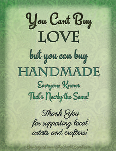 free printable sign thanks for buying handmade download the high-res .pdf, frame and place it on your display to let visitors know their purchases are helpful and greatly appreciated.