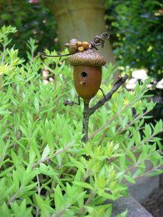 Eichel Futterhaus für Vogel aus Holz Idee
