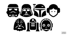 Custom Star Wars Stick Figure Family Pack por vinylology en Etsy