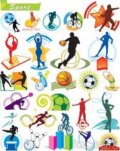 Vector sport gymnastics dance basketball
