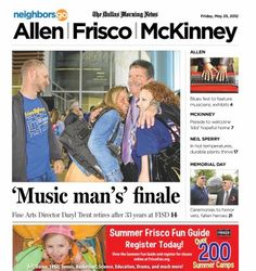 "05/25: Frisco ISD's ""Music Man"" Daryl Trent retires after 33 years. http://neighborsgo.com/stories/83397"