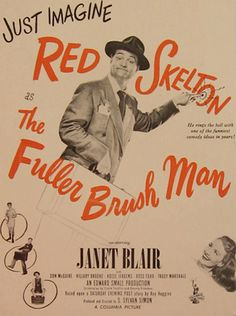 The Fuller Brush Man, Red Skelton 1948 Movie Ad
