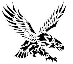 Tribal Eagle Tattoo, Tribal Tattoos With Meaning, Cool Tribal Tattoos, Eagle Tattoos, Tribal Tattoo Designs, Unique Tattoos, Meaning Tattoos, Body Art Tattoos, Tattoo Drawings