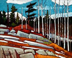 Spring Breakup, by Nicholas Bott Canadian Painters, Canadian Artists, Abstract Landscape, Landscape Paintings, Oil Paintings, Abstract Art, Painting Inspiration, Art Pictures, Painting Prints