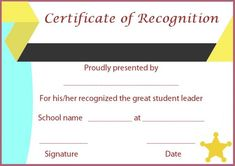 Certificate of Recognition Templates: Best Ideas and Free Samples - Demplates Certificate Of Recognition Template, Christmas Gift Certificate Template, Certificate Of Completion Template, Education Certificate, Birth Certificate Template, Certificate Of Appreciation, Certificate Of Achievement, Student Of The Week, Good Student