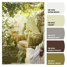 'French Country Garden' Paint colors from Chip It! by Sherwin-Williams