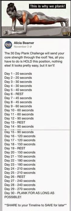 The 30 Day Plank Challenge   #weightloss #loseweight #workout #fitness #health