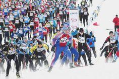 Finlandiahiihdon startti Marathon, Skiing, Outdoors, Events, Ski, Marathons, Outdoor Rooms, Off Grid, Outdoor
