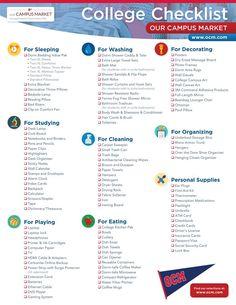 College Packing Checklist: What to Bring to your Dorm Room - the ULTIMATE #collegechecklist #checklist #dormchecklist