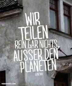'Wir teilen rein gar nichts, außer den Planeten!' - Genetikk ~