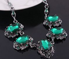 FairyBells Kart Rhinestone Statement necklaces FBKIV12
