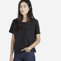 15 Chic Styles You'll Want From Everlane Now #refinery29  http://www.refinery29.com/everlane-now-fall-collection#slide-10  Add some edginess to this look by throwing on a leather jacket and a necklace (or two). ...