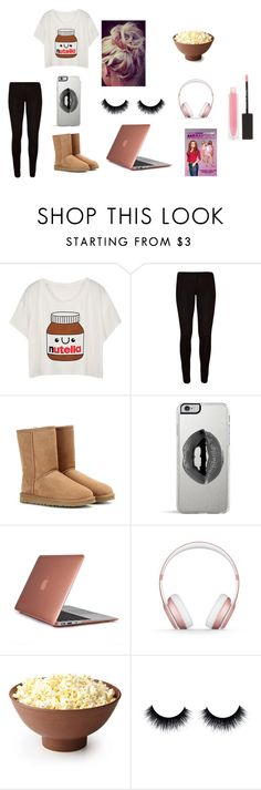 """lazy day"" by tiggerlilyxoxo on Polyvore featuring UGG Australia, Lipsy, Speck, Beats by Dr. Dre and MAKE UP STORE"