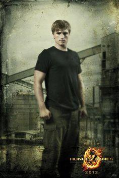 Póster The Hunger Games (Los Juegos del Hambre) Peeta, Distrito 12