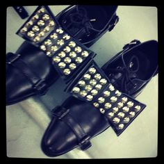 Singapore label Depression AW2012 studded bow lace-up leather brogues