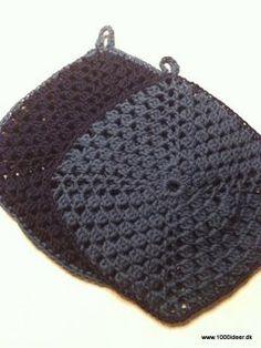 Et par grydelapper - hæklet Chrochet, Pot Holders, Knitting, Crafts, Crocheting, Craft Ideas, Crochet, Crochet, Manualidades