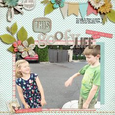 This Goofy Life- A digital scrapbook page by Diane.  The digital scrapbooking layout is made using digital scrapbooking kit(s) designed by Etc by Danyale, sold at The Lilypad: Lifetime Stories Kit, Alphabet Soup_Lifetime Stories.