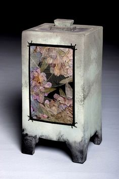 $425.00 Hand Built Pottery, Slab Pottery, Pottery Art, Ceramic Boxes, Ceramic Art, Cremation Urns, Cremation Ashes, Slab Boxes, Flower Vase Design