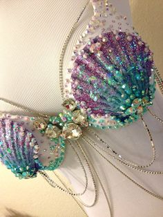 Aqua & Lilac Mermaid by TheLoveShackk on Etsy
