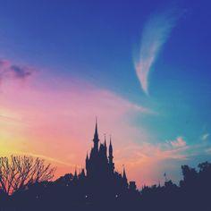 Pastel Sky above Cinderella's Castle
