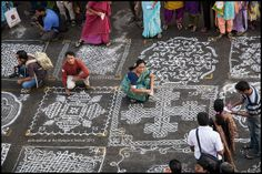 Kolam, or the art of decorating the front yard of Indian houses, is traditionally a woman's domain. The Mylapore festival, which celebrates the kolam, conducted a competition.