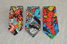 Marvel Clip on Neckties  / Super Hero Neckties / Avengers Necktie / Toddler's Custom Necktie https://www.etsy.com/listing/264341463/clip-on-tie-marvel-necktie-clip-on