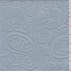 Solid greenish blue. Thismedium weight cotton fabric has a paisley matelass design that looks similar to quilting. This vintage washed cotton fabric is very soft to the touch and has a smooth surface.Shabby chic look.Compare to $36.00/yd
