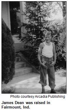 James Dean boyhood photo. James was raised in Fairmount, Indiana