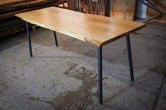 RUSTIC DINING TABLE Natural Acacia Dining by HardmanDesignBuild