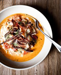 Shrimp and grits. Click the link to read the complete recipe. (Photo: Peter Frank Edwards for The New York Times)